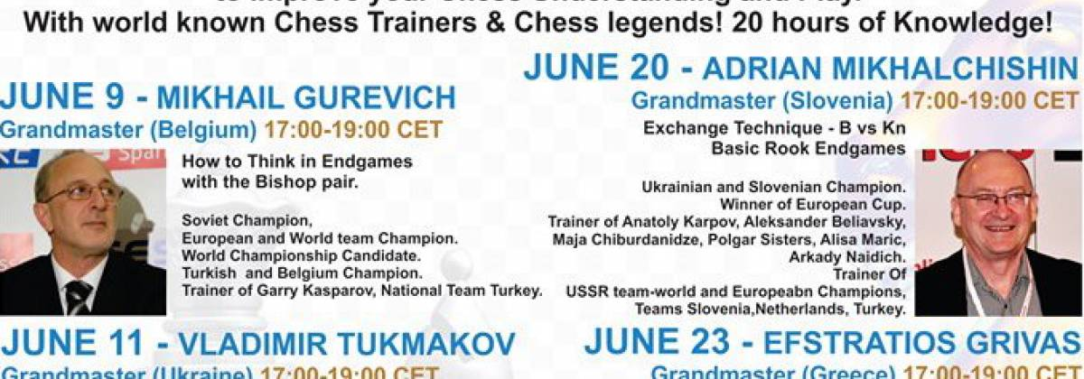 "Lectures program ""Improve Your Chess"" with leading Chess Trainers worldwide"